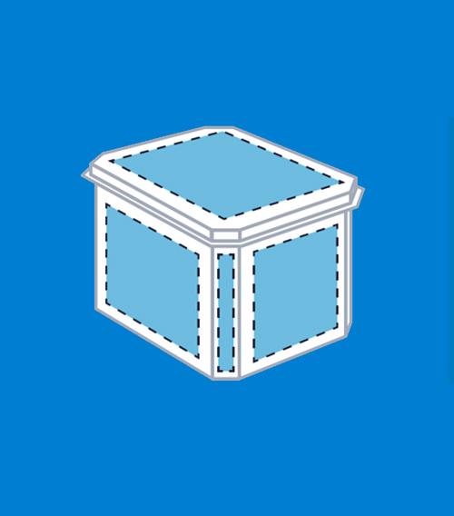 Multi-faced container